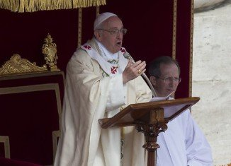 Pope Francis has proclaimed the first saints of his pontificate in a ceremony at the Vatican