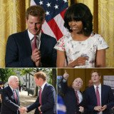 Prince Harry's first visit to the U.S. since August 2012, when the 28-year-old royal landed in hot water after he reportedly took part in a strip poker game at a casino hotel in Las Vegas