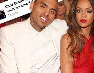 Rihanna and Chris Brown have taken to Twitter to voice their mutual contempt for each other