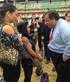 Snooki went head to head with New Jersey Governor Chris Christie on Friday at the reopening of the Seaside Heights' boardwalk