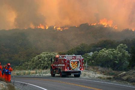Southern California wildfires have nearly tripled in size inside 24 hours, engulfing an area of 43 sq miles