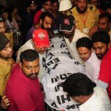 The funeral of the murdered vice-president of Pakistan's PTI party, Zahra Shahid Hussain, has been held at a mosque in Karachi
