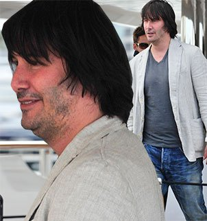 When Keanu Reeves hit the Cannes scene on Sunday, it came as a shock to see the Hollywood hunk look anything less than handsome