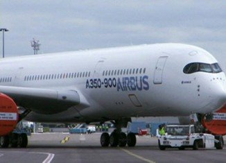 Airbus A350, the newest aircraft from the European planemaker, has taken off on its maiden test flight