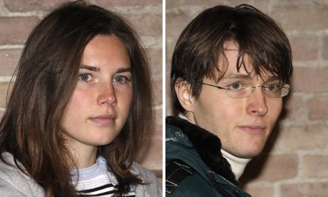 Amanda Knox and her former boyfriend Raffaele Sollecito were caught hugging and kissing during a secret reunion in New York this  photo