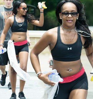 Bobbi Kristina Brown looks happy and healthy as she went for a jog and appears to be putting her problems behind her