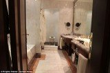 Boscolo Exedra Roma hotel bathroom where James Gandolfini suffered a fatal heart attack