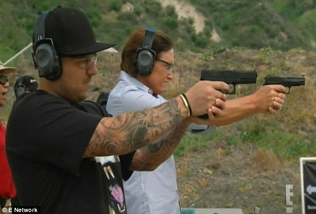Bruce Jenner and Rob Kardashian took their firearm safety course photo