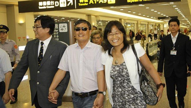 Chen Guangcheng has arrived in Taiwan for an 18 day trip that is likely to anger Beijing 640x363 photo