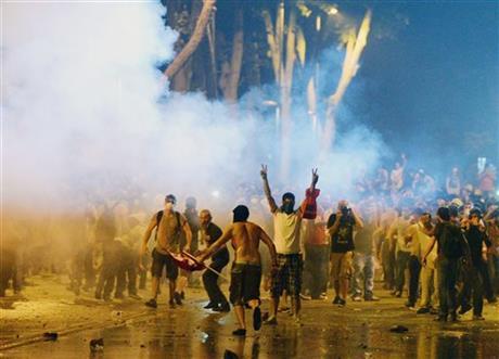 Clashes break out near PM Recep Tayyip Erdogan's office