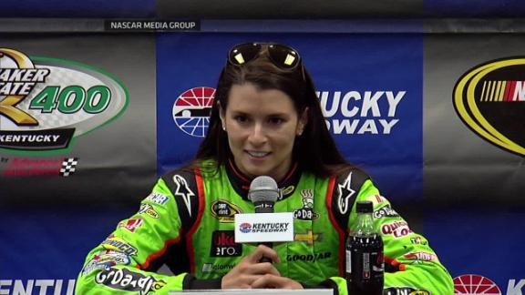 Danica Patrick says she doesn't care that Kyle Petty thinks she's better at getting attention than driving