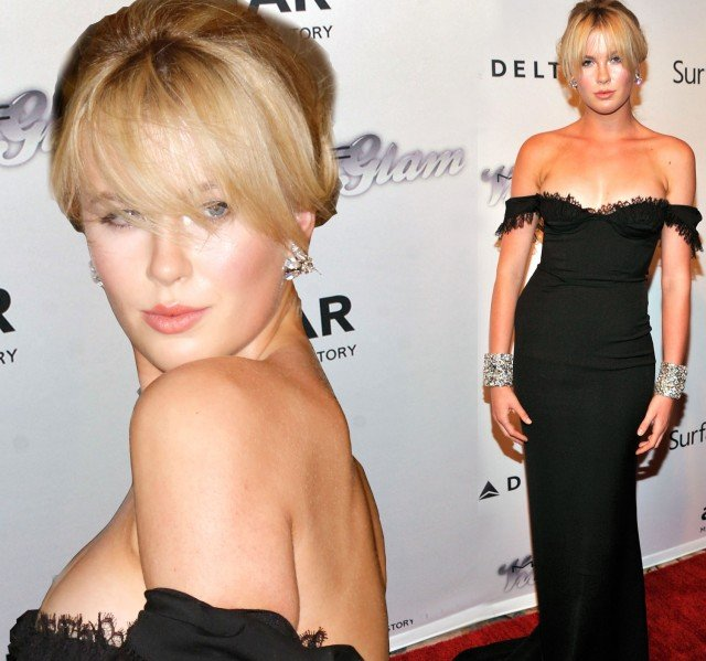 Ireland Baldwin shows an incredible resemblance to her mother Kim Basinger as she attended the amfAR Inspiration Gala in New York 640x599 photo