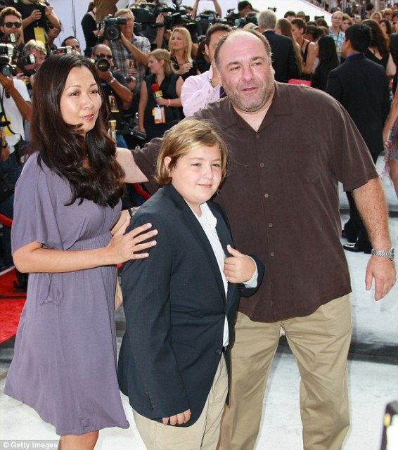 James Gandolfini died last night after he was discovered having a heart attack in his hotel bathroom in Rome by his teenage son, Michael