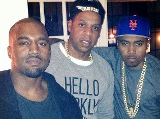Kanye West celebrated his 36th birthday in New York with Jay-Z, Beyonce and Nas