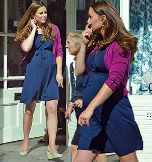 Kate Middleton recently stepped out in a sale navy blue dress from high street brand ASOS.com