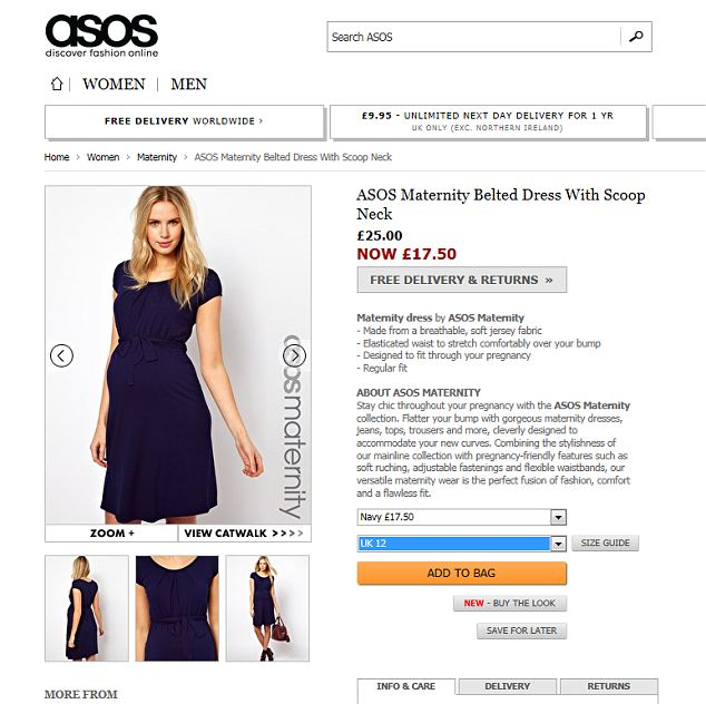 Kate Middleton wears a £17.50 maternity dress from online fashion site ASOS.com