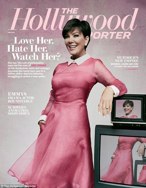 Kris Jenner looked in her element as she graced the cover of The Hollywood Reporter magazine ahead of a six week trial run of her new talk show aptly named Kris 497x640 photo