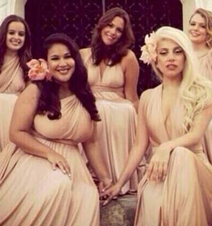 Lady Gaga took a step out of the spotlight as a bridesmaid at her best friends wedding photo