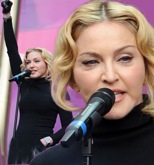 Madonna swollen face at Sound Of Change 2013 concert photo