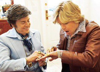 Michael Douglas as Liberace and Matt Da¬mon as Scott Thorson in Steven Soderbergh's Behind The Candelabra