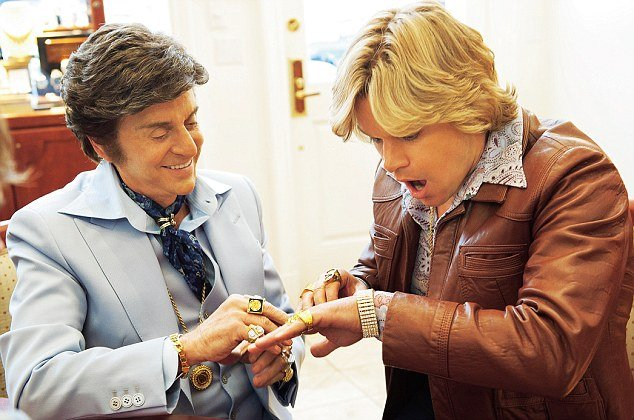 Michael Douglas as Liberace and Matt Da¬mon as Scott Thorson in Steven Soderbergh's Behind The Candelabra photo