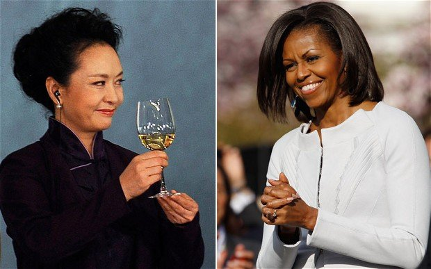 Michelle Obama snubbed Chinas First Lady Peng Liyuan after she announced that she would not be attending the summit with the Chinese leading couple when they meet with President Barack Obama photo