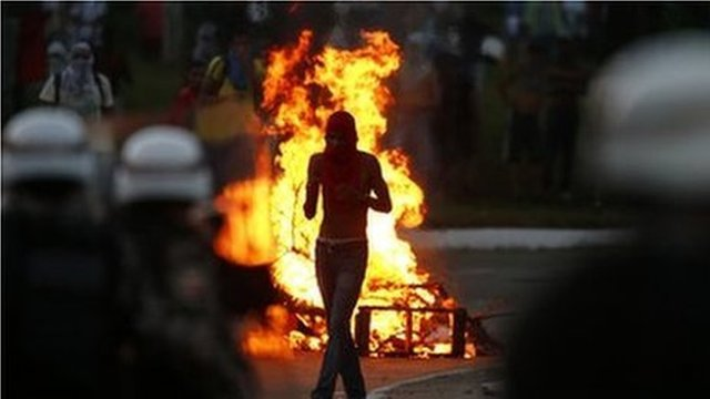 More than one million people have taken part in protests in about 100 cities across Brazil photo