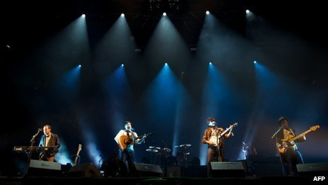 Mumford and Sons have closed this year's Glastonbury festival, with their first ever headline set on the Pyramid Stage
