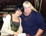 Paris Jackson pictured with her biological mother Debbie Rowe as she celebrated 15th birthday anniversary