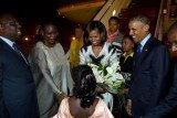 President Barack Obama has arrived in Senegal on the first leg of a three-nation tour of Africa