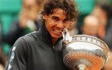 Rafael Nadal won a record eighth French Open title after beating fellow Spaniard David Ferrer