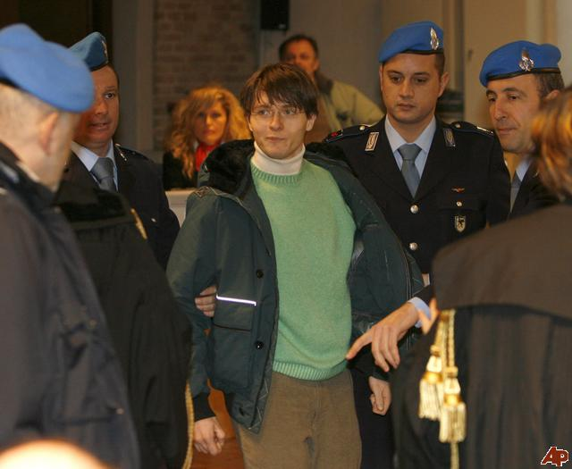 """Raffaele Sollecito, Amanda Knox's Italian ex-boyfriend, has told of their """"intense"""" relationship claiming he felt he had been """"hit by a thunderbolt"""" when they first met"""
