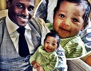 Reggie Bush celebrated his first Father's Day and shared a picture of his month-old baby daughter Briseis