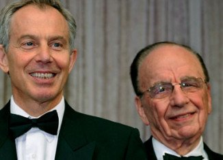 Tony Blair strongly denied outrageous internet rumors today linking him with the divorce of Rupert Murdoch and Wendi Deng