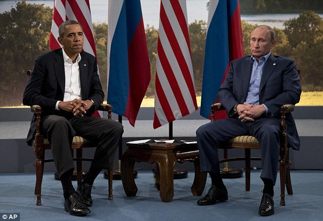 US President Barack Obama and Russian President Vladimir Putin at the G8 summit in Northern Ireland