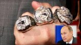Vladimir Putin has hit back at allegations he stole a diamond-encrusted Super Bowl ring from billionaire Robert Kraft
