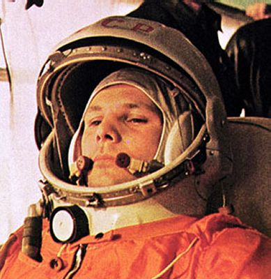 Yuri Gagarin became the first person to journey into space on 12 April 1961, when his Vostok spacecraft completed a single orbit of Earth