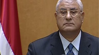 Adly Mansour top judge of Egypts Constitutional Court was sworn in as interim leader photo