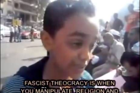 Ahmed Ali, an incredibly smart 12-year-old Egyptian boy, excruciating the Muslim Brotherhood and relentlessly dissecting their power grab for Egypt