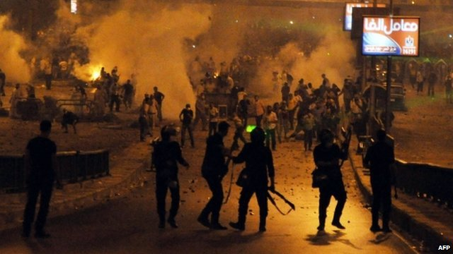 At least 100 people are reported to have been killed in Cairo at a protest held by supporters of Mohamed Morsi