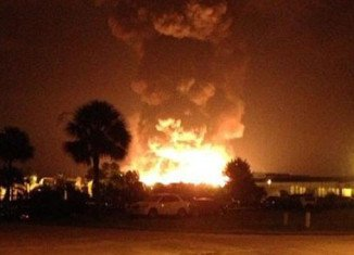 At least seven people were injured by a series of explosions at Blue Rhino propane plant in Tavares