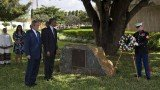 Barack Obama laid a wreath for the victims of the 1998 US embassy bombing in the Tanzanian city of Dar es Salaam