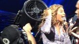 Beyoncé's hair got caught in a fan during her performance in Montreal