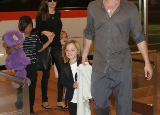 Brad Pitt and Angelina Jolie landed in Haneda International Airport in Tokyo with their children, Pax and twins Knox and Vivienne