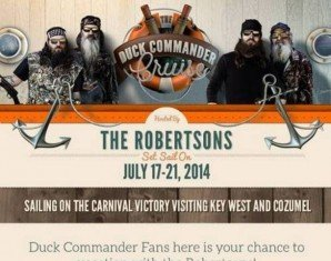 Duck Dynasty fans from around the world are invited to join the show stars on the Duck Commander Cruise next summer