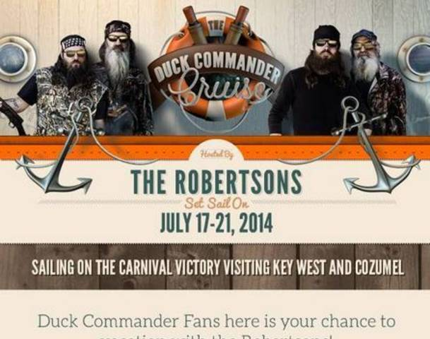 Duck Dynasty fans from around the world are invited to join the show stars on the Duck Commander Cruise next summer photo