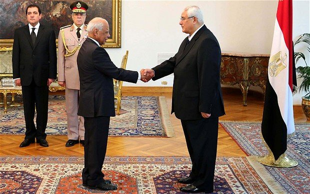 Egypt's interim government has been sworn in, with army chief General Abdel Fattah al-Sisi becoming deputy PM as well as defense minister