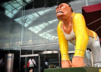 Freddie Mercury Radio Go Go Gorilla sculpture has been removed from a public art trail in Norwich after a copyright complaint