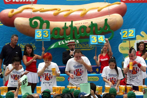 In recent years, an estimated 40,000 fans have made the pilgrimage to the corner of Surf and Stillwell Avenues in Coney Island to watch the Nathan's Famous Fourth of July Hot Dog-Eating Contest in person