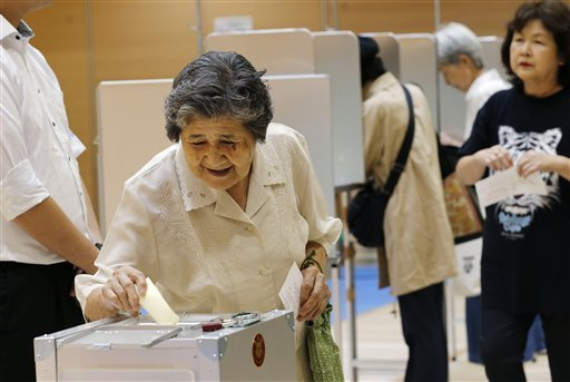 Japan is voting in upper house elections expected to deliver a win for Prime Minister Shinzo Abe photo